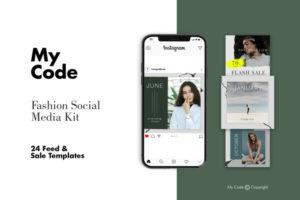 Fashion Instagram Post Free PSD Template v2