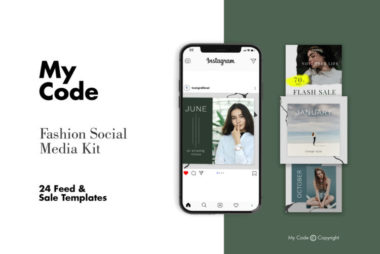 Fashion Instagram Post Free PSD Template v2