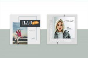 Fashion Minimal Free Instagram PSD Template