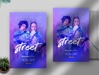 Fashion Party Vibe Free PSD Flyer Template