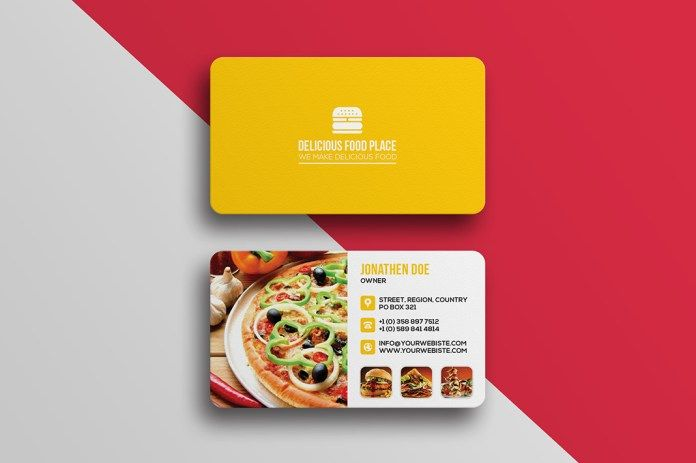 Fast Food Business Card Free PSD Template