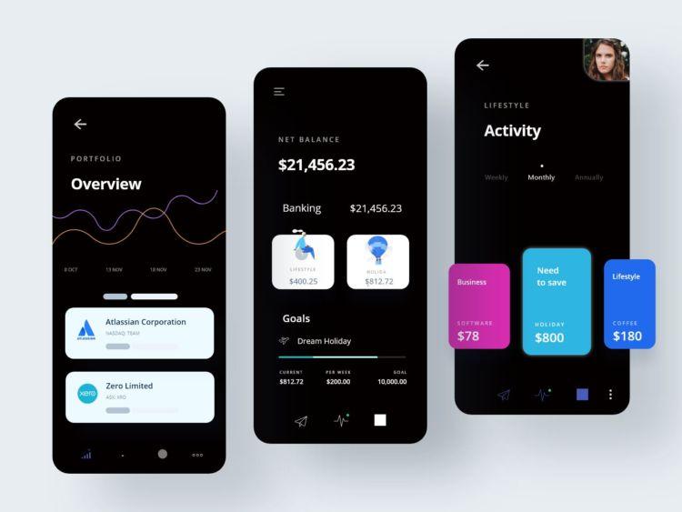 Finance Money Manager App UI Kit Free
