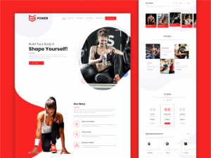 Fitness Workout Kit Free XD Website Template