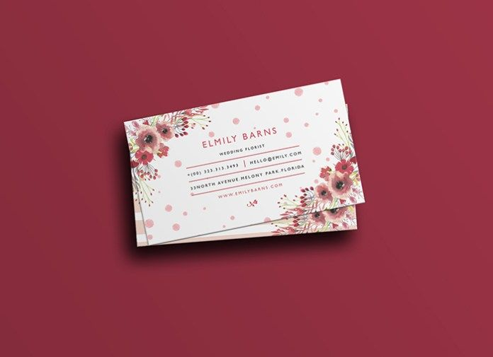 Florist Business Card Free PSD Template