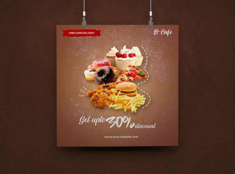 Food & Beverages Ad Freebie Instagram Banner