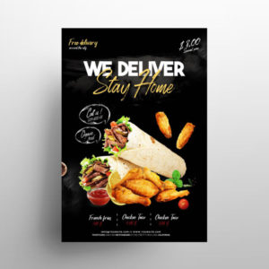 Food Delivery Freebie PSD Flyer Template