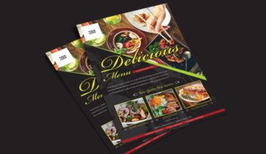 Food Restaurant Ad Freebie PSD Flyer Template