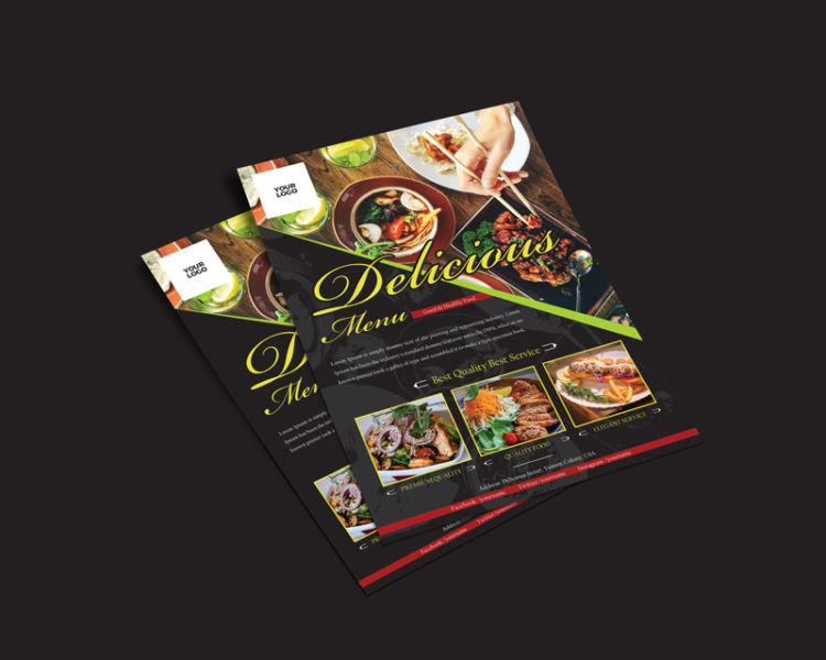 Food Restaurant Ad Freebie PSD Flyer Template