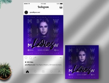 Free Girls Party Instagram Post PSD Template