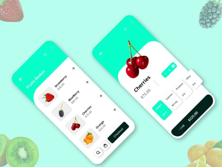 Fruits Delivery App Freebie UI