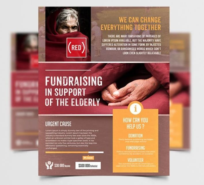 Fundraising Charity Free PSD Flyer Template