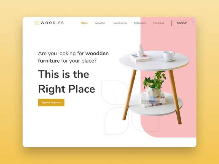 Furniture Online Shop Free Figma Landing Page