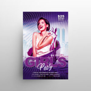 Girls Party Night Free PSD Flyer Template