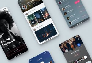 Glow App Concept Free UI Kit