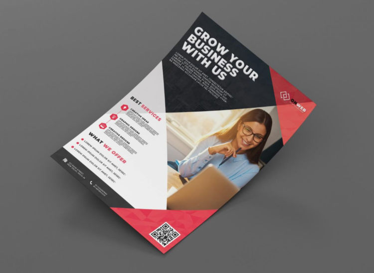 Grow your Business Free PSD Flyer Template