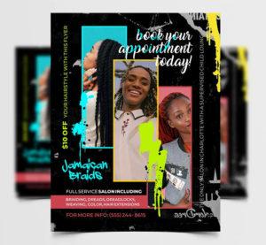Hair Extensions Freebie PSD Flyer Template