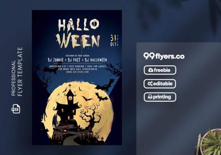 Halloween Event Freebie PSD Flyer Template
