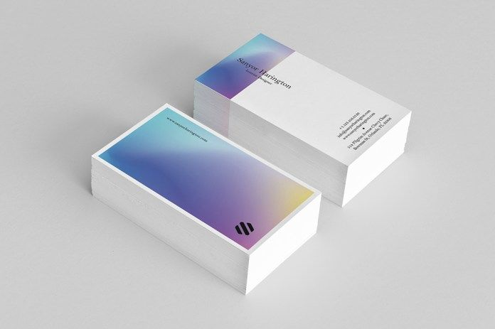 Holo Style Free Business Card PSD Template