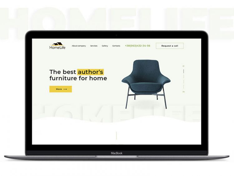 Homelife Website Template & UI Kit Free PSD