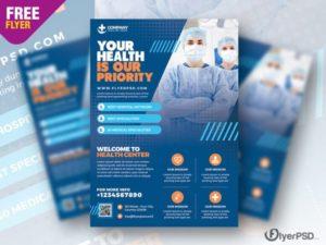 Hospital Medicine Ad Freebie PSD Flyer Template