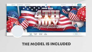 Independence Day Free Twitter Header PSD Template