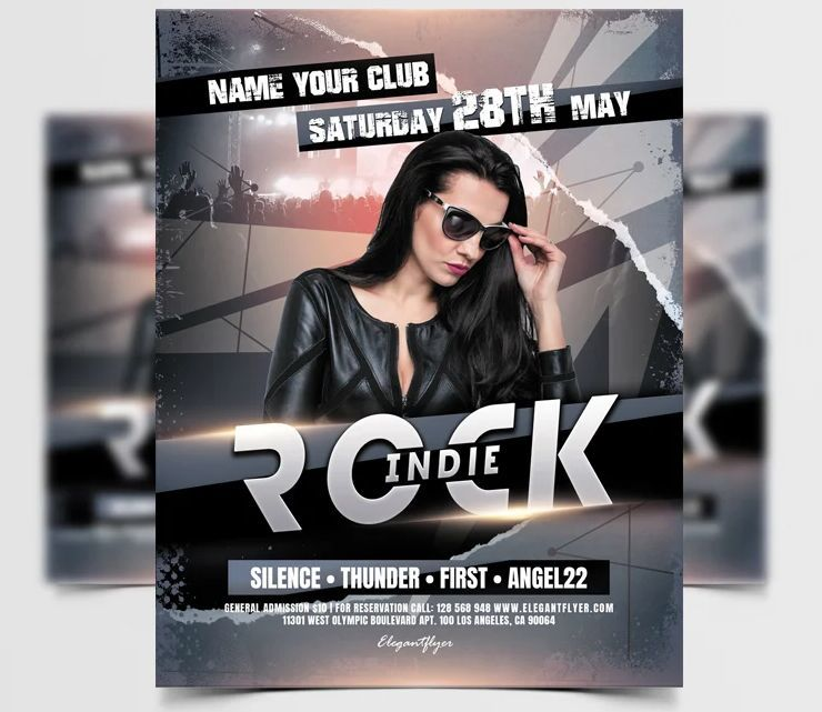 Indie Event Freebie PSD Flyer Template