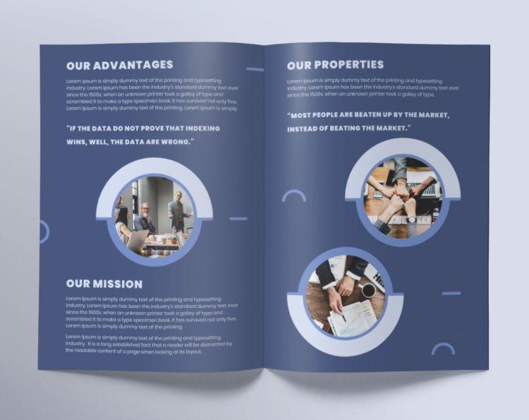 Investment Fund Bi-Fold Free PSD Brochure Template
