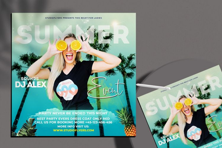 It's Summer Week Free Flyer PSD Template