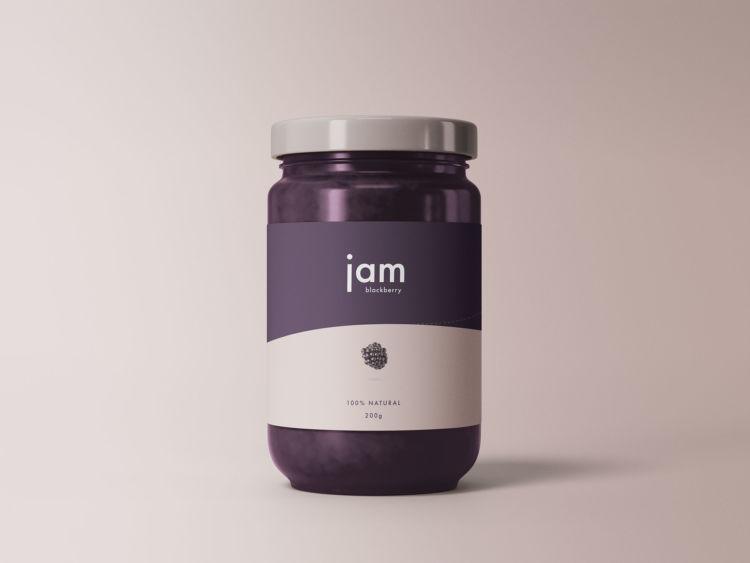 Jam Jar Free Mockup