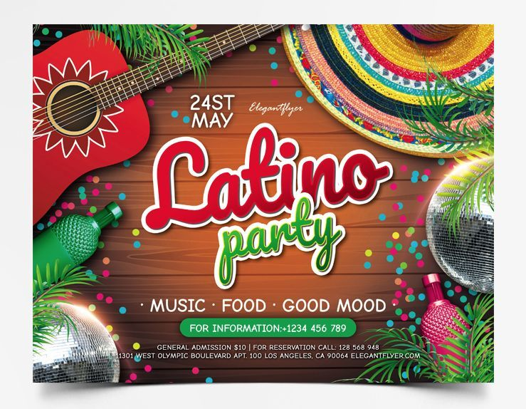 Latino Event PSD Free Flyer Template