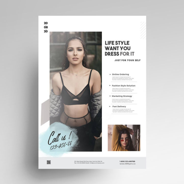 LifeStyle - Free Minimal PSD Flyer Template