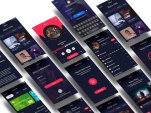 Love Music App in XD Free UI Kit