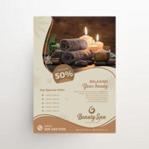 Luxury Beauty & Spa Free Elegant PSD Flyer