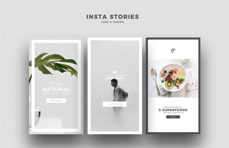 MINIMIS - Free Instagram Stories PSD Templates