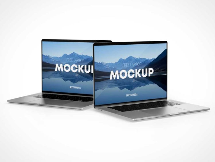 MacBook Laptops Free Mockup