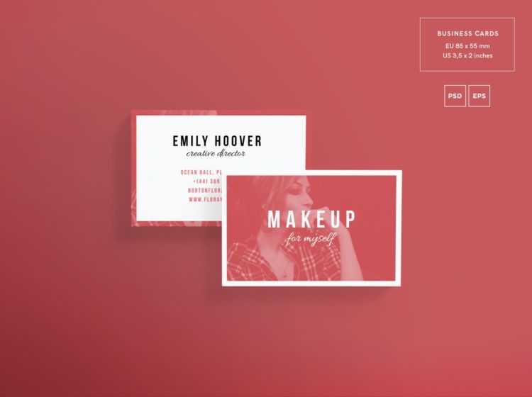 Makeup Courses Business Card Free PSD Template