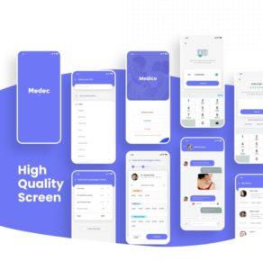 Medec Health App Free XD UI kit