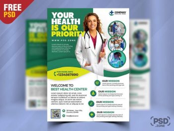 Medical Clinic Ad Free PSD Flyer Template