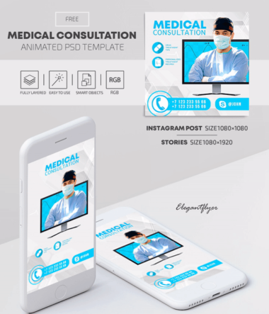 Medical Free Instagram & Facebook Animated PSD Banners