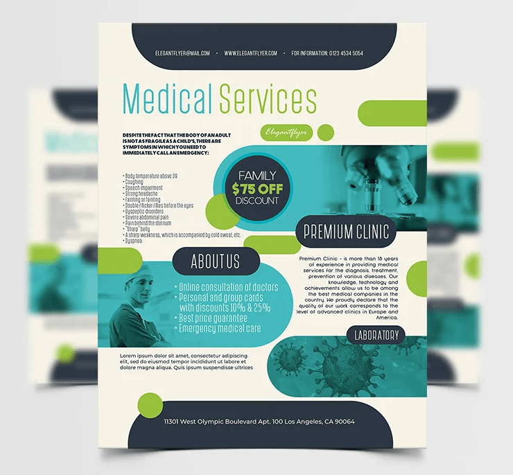 Medical Services PSD Freebie Flyer Template
