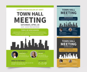 Meeting – Free PSD Flyer Template