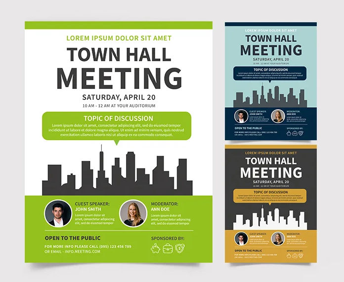 Meeting - Free PSD Flyer Template