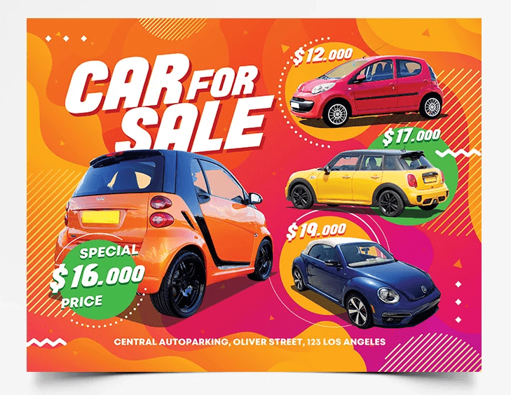 Mega Sale Free Car PSD Flyer Template