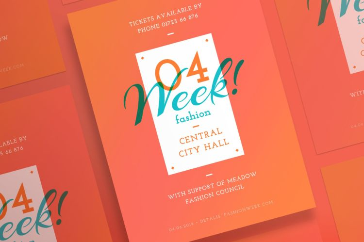 Minimal Fashion Week Event Free PSD Flyer Template