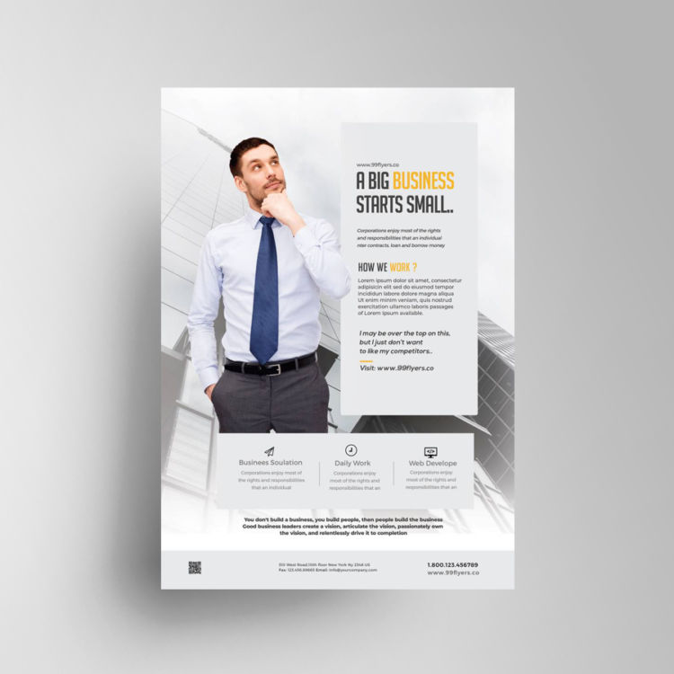 Minimalistic Business Free PSD Flyer Template