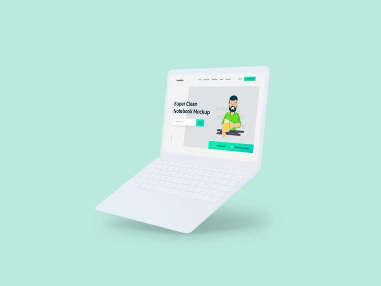 Minimalistic Notebook Free Mockup