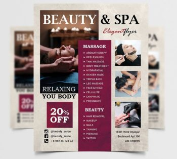 Modern Beauty and Spa Free PSD Flyer Template