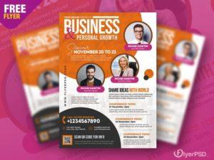 Modern Business Ad Free PSD Flyer Template