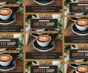Modern Coffee Ad Free PSD Flyer Template