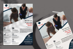 Modern Corporate Ad Free PSD Flyer Template